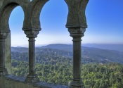 Window from Pena National Palace in Sintra